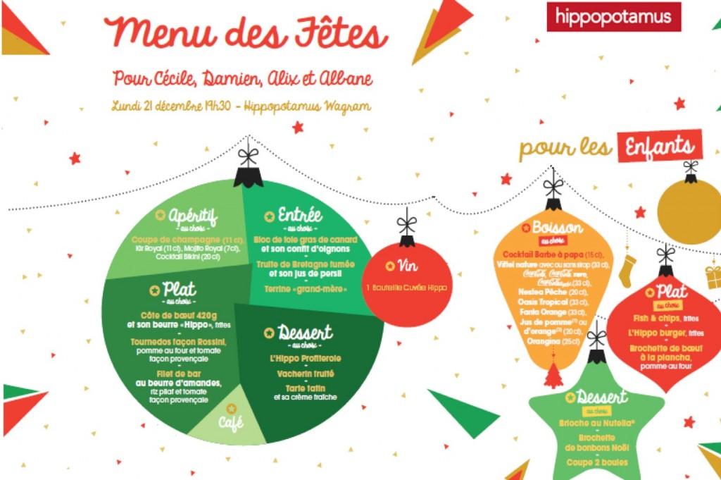 Menu  Decembre Restaurant Vienne